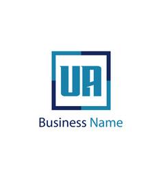 Initial letter ua logo template design vector