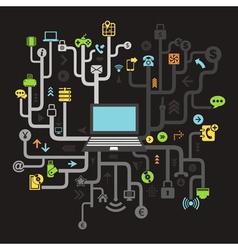 Internet vector image