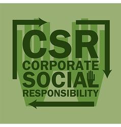 Logo acronym Corporate Social Responsibility vector