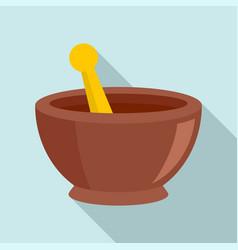 magic bowl icon flat style vector image