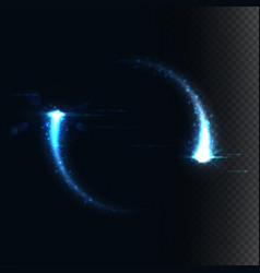 Magic frame consist of glowing particles vector