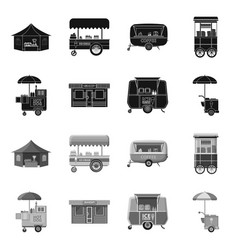 Market and exterior icon vector