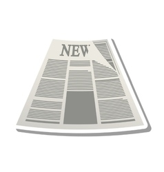 News paper information isolated icon vector