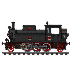 Old black tank engine locomotive vector
