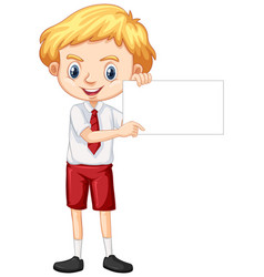 one happy boy blank paper vector image