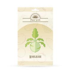 pack of kohlrabi seeds icon vector image