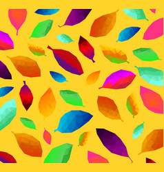 pattern of colorful triangular leaf abstract vector image