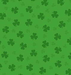 Pretty irish background with clovers leafs vector