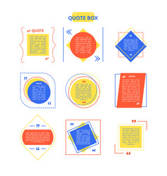 Quote box sample on colorful vector