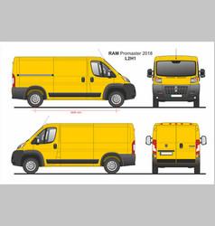 Ram promaster cargo delivery van l2h1 2018 vector