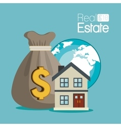 real estate globe house apartament rental isolated vector image