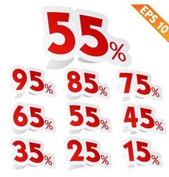 Sale percent sticker tag - - eps10 vector