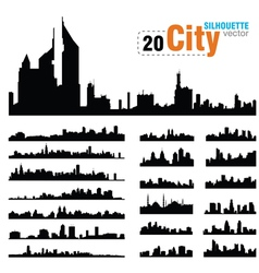 set city skylines vector image