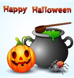 set of halloween equipment cartoon vector image