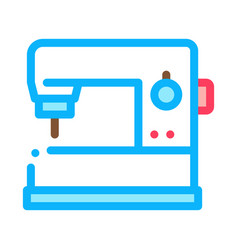 sewing machine icon outline vector image