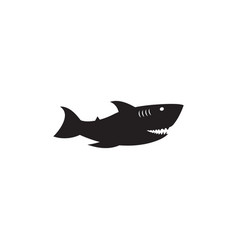 shark graphic design template isolated vector image
