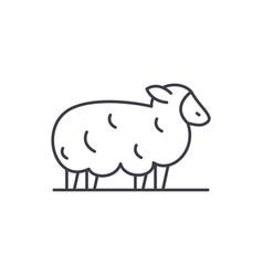 sheep line icon concept sheep linear vector image