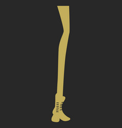 silhouette long woman legs with bo vector image