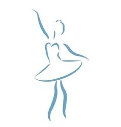 Sketched ballerina vector