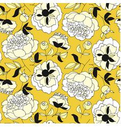 Tender spring peonies seamless pattern vector