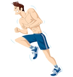 The running person vector