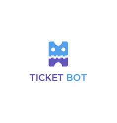ticket bot logo vector image