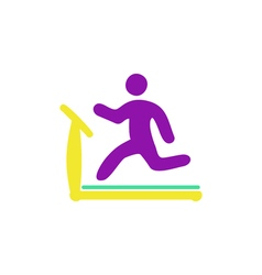 Treadmill Icon vector