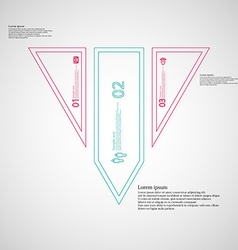 Triangle infographic template divided to three vector