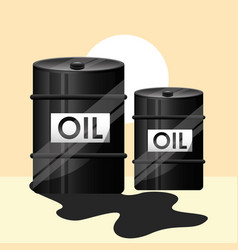 two barrel crude oil industry vector image