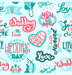 typography save the wedding day date quote text vector image