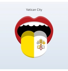Vatican city language abstract human tongue vector