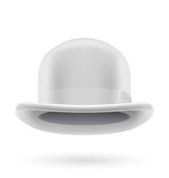 White bowler hat vector