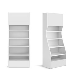 White pos display stand for supermarket vector