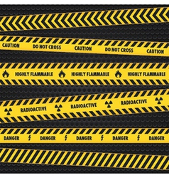 Yellow Hazard Warning Tapes vector