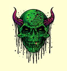 zombie evil skull halloween vector image