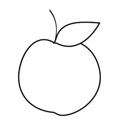 Apple icon outline style vector image vector image