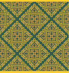 beautiful seamless pattern in celtic style vector image vector image