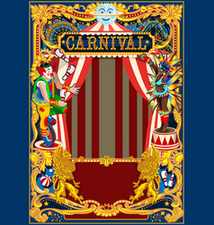 carnival poster circus theme vector image vector image
