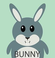 Cute grey bunny cartoon flat icon avatar vector image vector image