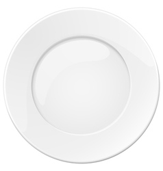 Empty white plate vector image