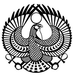 falcon symbol of horus black white vector image vector image