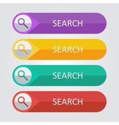 flat buttons search vector image vector image