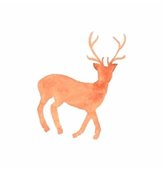Watercolor deer on the white background aquarelle vector image