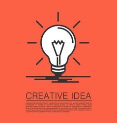 creative idea of flat style vector image