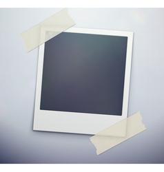 retro polaroid photo frame vector image vector image
