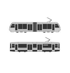 tramway set vector image