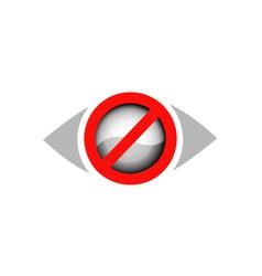 Vision restricted logo vector image