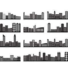 City landscapes vector image vector image