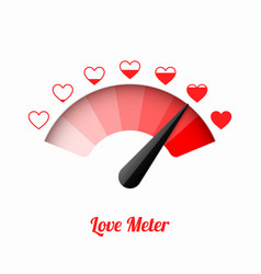 love meter valentines day card design element vector image vector image