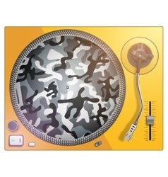 modern acid color and camouflage turntable vector image